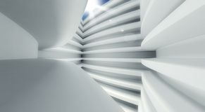 3d modern architecture interior Stock Photo