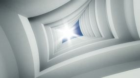 3d modern architecture interior Royalty Free Stock Photos