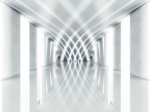 3d modern architecture interior. Background Royalty Free Stock Image