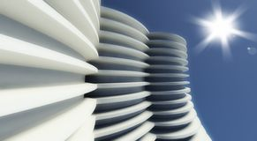 3d modern architecture outdoor Royalty Free Stock Images