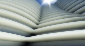 3d modern architecture outdoor. Background Stock Image