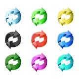 3D modern arrows Stock Photo