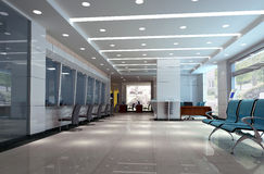 3d modern business hall Royalty Free Stock Images