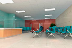 3d modern business hall Royalty Free Stock Image