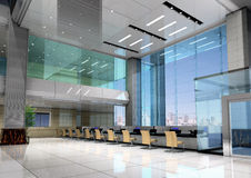 Free 3d Modern Business Hall Royalty Free Stock Photography - 9606497