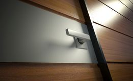 3d modern door handle Royalty Free Stock Photo