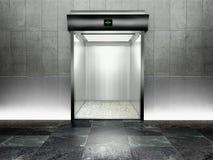3d modern elevator with open door Stock Photo