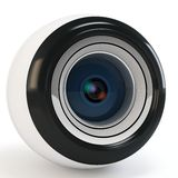 3d modern eye camera. On white background Stock Photos