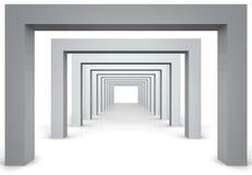 3d modern hall Royalty Free Stock Image