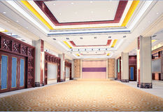 3d modern hall,corridor Royalty Free Stock Photography