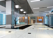 3d modern hall,corridor Royalty Free Stock Photos