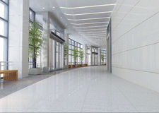3d modern hall,corridor royalty free illustration