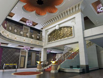 3d modern hall,corridor Royalty Free Stock Images