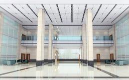 3d modern hall,corridor Stock Photo
