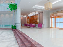 3d modern hall,corridor Stock Photo