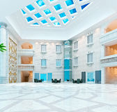 3d modern hall,corridor Royalty Free Stock Image