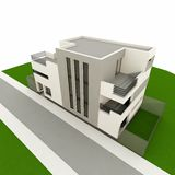 3d modern house Stock Image