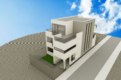 3d modern house Royalty Free Stock Image