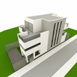 3d modern house Stock Photo