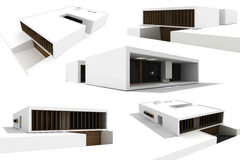 3d modern house isolated on white Stock Photo