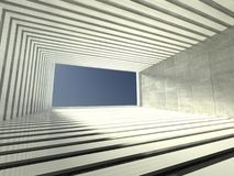 3d modern indoor, empty corridor Royalty Free Stock Photos