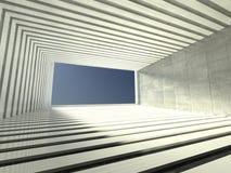 3d modern indoor, empty corridor. 3d modern interior, empty corridor Royalty Free Stock Photos