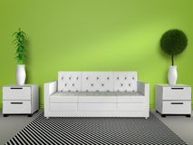 3D modern interior Royalty Free Stock Photos