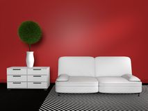 3D modern interior Royalty Free Stock Image