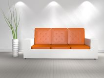 3D modern interior Stock Photography