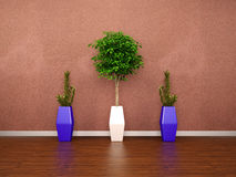 3d modern interior wall Stock Image