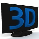 3D modern LED monitor Royalty Free Stock Image