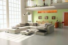 3d modern living room Stock Image