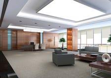 3d modern office room stock illustration
