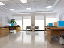 3d modern office room Royalty Free Stock Images