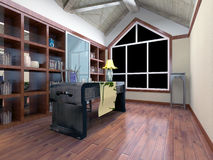 3d modern office room Stock Image