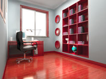 3d modern office room Royalty Free Stock Photo