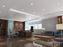 3d modern office room Διανυσματική απεικόνιση