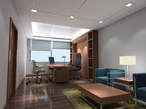 3d modern office room Στοκ εικόνες με δικαίωμα ελεύθερης χρήσης