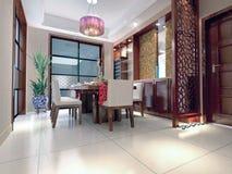 3d modern restaurant. Modern restaurant interior.3D render Stock Image