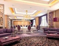 3d modern restaurant. Modern restaurant interior. 3D render Royalty Free Stock Image
