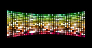 3D modern screen. Colorful tiny squares on screen Royalty Free Stock Photo