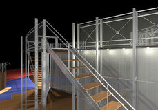 3D modern staircase Stock Image