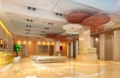 3d moderne Halle, Flur Stockfoto