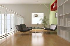 3d moderne woonkamer Stock Afbeelding