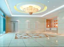 3d moderne zaal, gang Royalty-vrije Stock Afbeeldingen