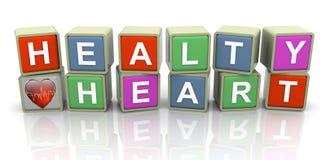 3d modewoordtekst ?gezond hart? stock illustratie