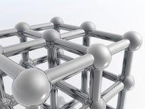 3D molecule Stock Images