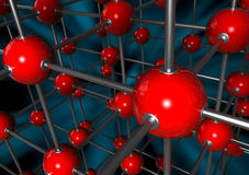3D molecule Stock Foto's