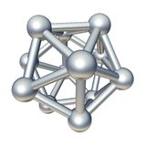 3d molecule model. Isolated on white Royalty Free Stock Images