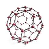 3d moleculegebied Stock Illustratie